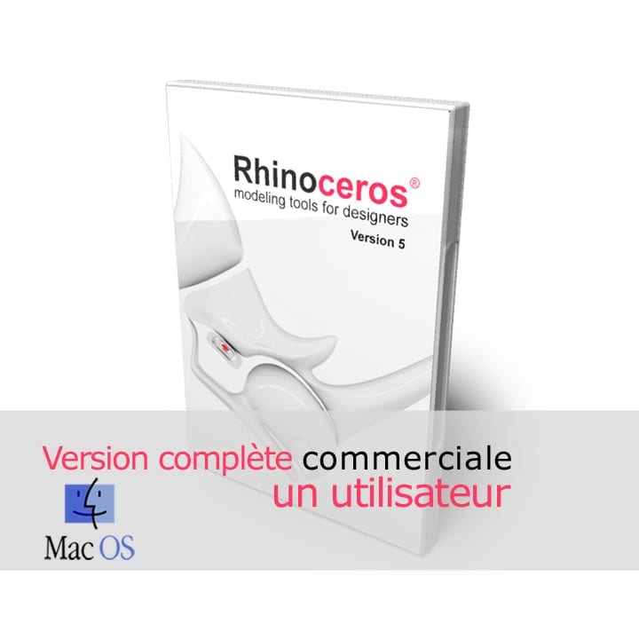 Rhino 3d v5 Commerciale Complete Mac